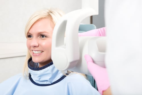Taking X-ray with braces on