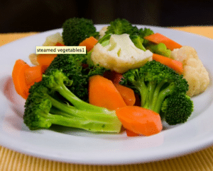 Braces-friendly steamed vegetables